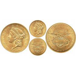 USA (San Francisco mint), $20 Liberty, 1857-S, encapsulated PCGS AU55 / S.S. Central America / 20F N