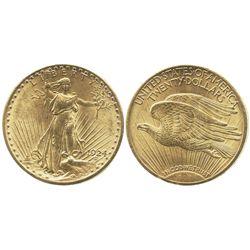 USA (Philadelphia mint), $20 St. Gaudens, 1924.