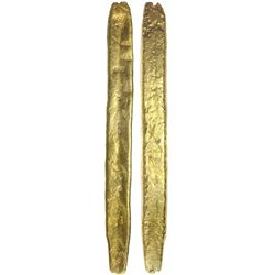 Atocha Complete Colombian gold bar #42, 1098 grams, marked with foundry/assayer SARGOSA / PECARTA an