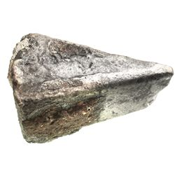 Silver  wedge  ingot (contraband) with encrustation, 776 grams, from the 1733 Fleet.