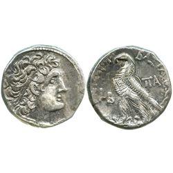 Ptolemaic Kings of Egypt, AR tetradrachm, Cleopatra III and Ptolemy IX Soter II (Lathyros), 116-107