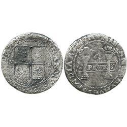 "Mexico City, Mexico, 4 reales, Charles-Joanna, ""Early Series,"" assayer P (small) to right, mintmark"