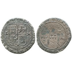 """Mexico City, Mexico, 2 reales, Charles-Joanna, """"Late Series,"""" assayer L to left, mintmark M to right"""