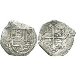 Mexico City, Mexico, cob 4 reales, Philip III, assayer F, choice.