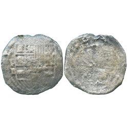 Potosi, Bolivia, cob 8 reales, Philip II, assayer B (5th period), scarce provenance.