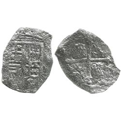 Mexico City, Mexico, cob 4 reales, Philip III, assayer not visible, Grade 2, with Edward J. Little s