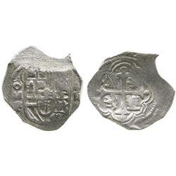 Mexico City, Mexico, cob 2 reales, (161)1F, Grade 1, rare.