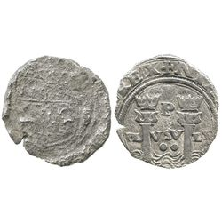 Lima, Peru, cob 2 reales, Philip II, assayer Rincon, rare first coinage of South America (very rare