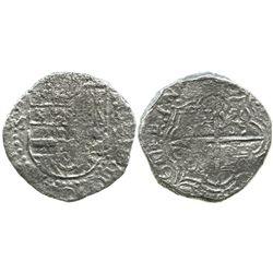 Potosi, Bolivia, cob 8 reales, (1)617M, date at 7 o'clock, Grade 2, with Edward J. Little signature