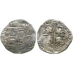 Potosi, Bolivia, cob 8 reales, (1)617(M), Grade 2.