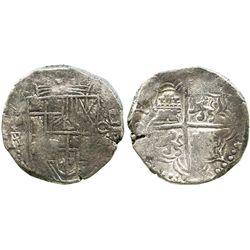 Potosi, Bolivia, cob 8 reales, (1)61(8)PAL (rare), choice Grade 1, with Edward J. Little signature o