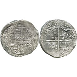 Potosi, Bolivia, cob 8 reales, (16)18(T), Grade 2.