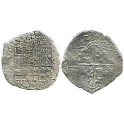 Potosi, Bolivia, cob 8 reales, 1618, assayer not visible, Grade 2.