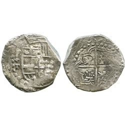 """Potosi, Bolivia, cob 8 reales, (1)620T, date appearing as """"6Z00"""", quadrants of cross transposed, Gra"""