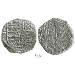 Potosi, Bolivia, cob 8 reales, 1620T, Grade-3 quality but Grade 2 on the certificate.