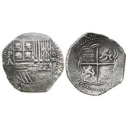 Potosi, Bolivia, cob 4 reales, Philip II, assayer A, Grade 1, certificate missing.