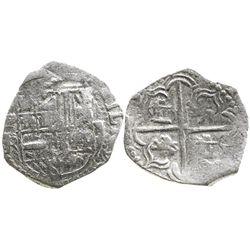 Potosi, Bolivia, cob 2 reales, Philip III, assayer R, Grade 1, with Edward J. Little signature on ce