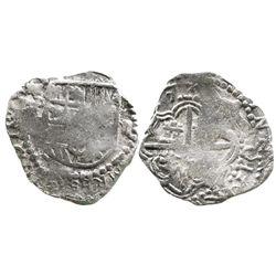 Potosi, Bolivia, cob 2 reales, (161)7(M), error legend, Grade-1 quality but Grade 2 on certificate.