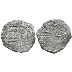 Cartagena, Colombia, cob 8 reales, (16)21A, mintmark RN to left, extremely rare first date of issue,