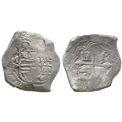 Mexico City, Mexico, cob 8 reales, Philip IV, assayer P, with hand-signed Webber certificate.