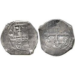 Mexico City, Mexico, cob 4 reales, 1641P, very rare, ex-Christensen.