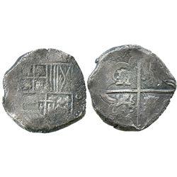 Potosi, Bolivia, cob 8 reales, (163)9(TR), rare.