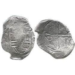 Mexico City, Mexico, cob 8 reales, Philip IV, assayer not visible, rare mint for this wreck.