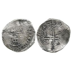 Potosi, Bolivia, cob 8 reales, 1649Z, bold full date (rare), no countermark (even rarer!).