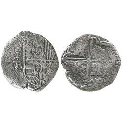 Potosi, Bolivia, cob 2 reales, Philip IV, assayer TR.