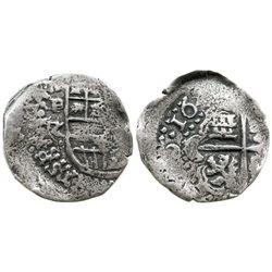 Potosi, Bolivia, cob 2 reales, 164(?)Z, rare.