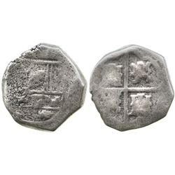 Spain (mint uncertain), cob 8 reales, Philip IV, assayer not visible, very rare mint for this wreck.