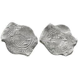 Mexico City, Mexico, cob 8 reales, 1658P.