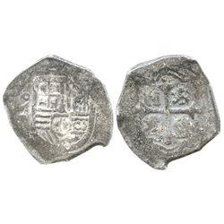Mexico City, Mexico, cob 2 reales, Philip IV, assayer P, scarce provenance.