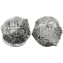 Potosi, Bolivia, cob 8 reales, 1695VR.