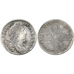 London, England, shilling, William III (first bust), 1697.