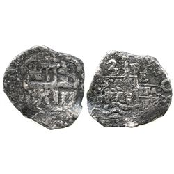 Potosi, Bolivia, cob 2 reales, 1677E.