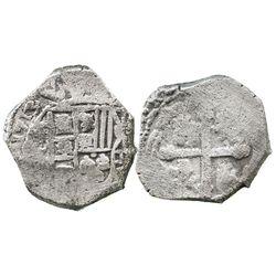 Mexico City, Mexico, cob 4 reales, 1713(J), full date (rare), ex-Ullian.