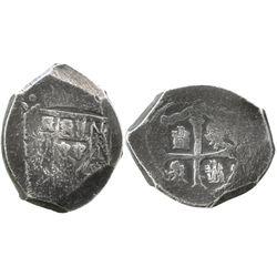 Mexico City, Mexico, cob 4 reales, (171)5(J), rare.