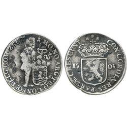 Zeeland, United Netherlands, silver ducat, 1701.