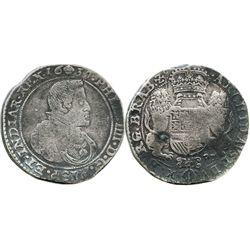 Brabant, Spanish Netherlands (Brussels mint), portrait ducatoon, Philip IV, 1637.
