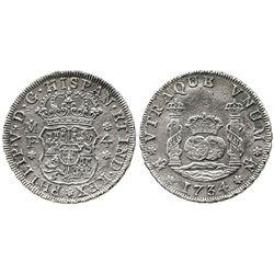 Mexico City, Mexico, pillar 4 reales, Philip V, 1734MF.
