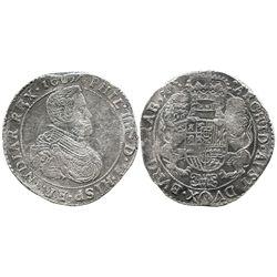 Brabant, Spanish Netherlands (Antwerp mint), portrait ducatoon, Philip IV, 1637.