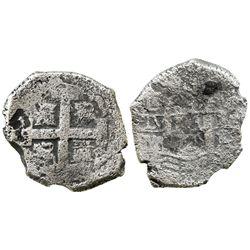 Lima, Peru, cob 8 reales, 1725M, (Louis I), very rare.