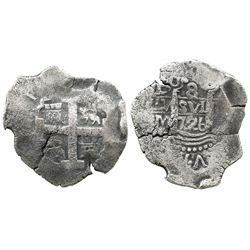 Lima, Peru, cob 8 reales, 1726M.