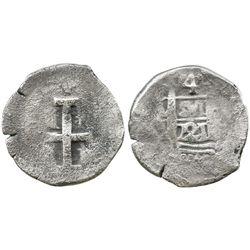 Lima, Peru, cob 4 reales, 1721(M), rare.