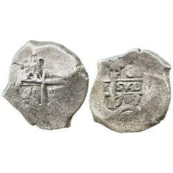 Potosi, Bolivia, cob 8 reales, 1709(Y), scarce.