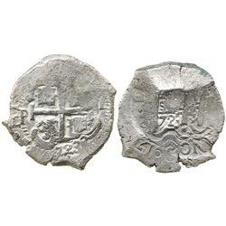Potosi, Bolivia, cob 8 reales, 1723Y, rare.