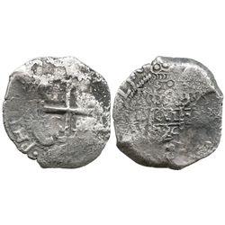 Potosi, Bolivia, cob 8 reales, 1724(Y).