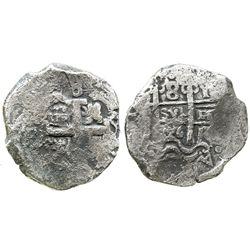 Potosi, Bolivia, cob 8 reales, 1726Y, (Louis I), scarce.