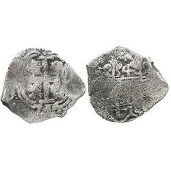 Potosi, Bolivia, cob 4 reales, 1714Y.